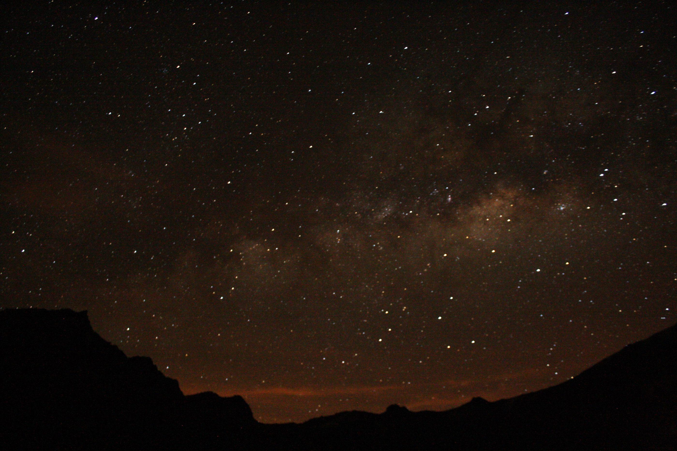 Ein fantastischer Sternenhimmel am Abend vor dem Gipfeltag